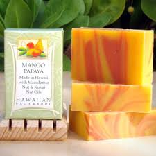mango and papaya soap, natural papaya soap, pure papaya soap, papaya soap bar, life's a beach soap
